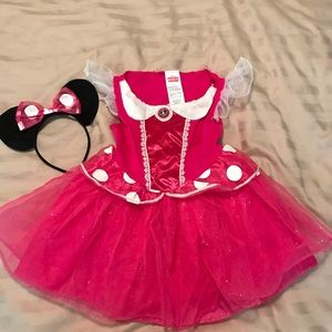 Minnie Mouse costume with matching headband ears